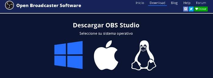 Descargar Open Broadcaster Software en Español